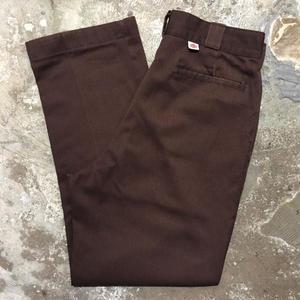 80's Dickies Work Pants BROWN  W : 34
