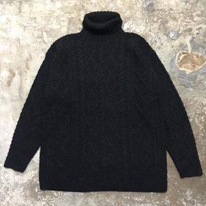 90's Timberland Turtle Neck Aran Knit Sweater
