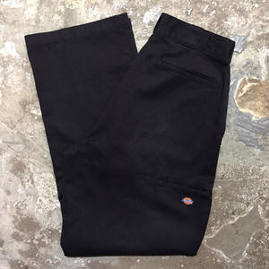 90's Dickies Double Knee Work Pants BLACK W 34