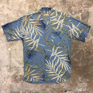 Caribbean Blues Rayon Open Collar Shirt