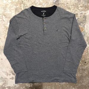 90's NAUTICA Henry Neck L/S T-Shirt