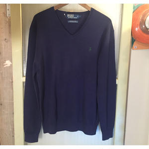 POLO Ralphlauren Vneck Cotton Sweater