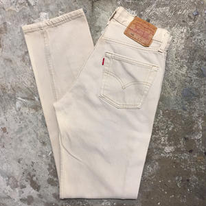 90's Levi's 501 Color Denim Pants L.BEIGE W29
