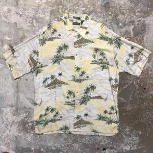 VAN HEUSEN Rayon Aloha Shirt YELLOW×BEIGE