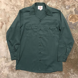 90's Dickies L/S Work Shirt GREEN