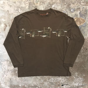 NORTH RIVER Fishing Printed L/S Tee