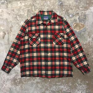 70's PENDLETON Wool Board Shirt RED×GREEN×WHITE