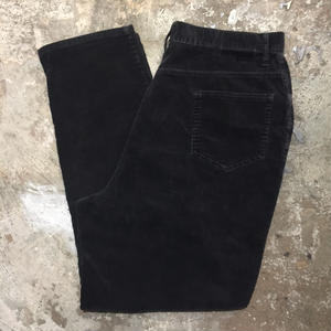 ST JOHN'S BAY 5-Pocket Corduroy Pants BLACK W : 34