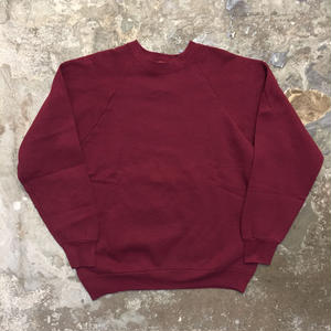 80's FRUIT OF THE LOOM Plain Sweatshirt BURGUNDY