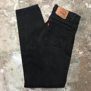 90's Levi's 550 Black Denim Pants  W : 31