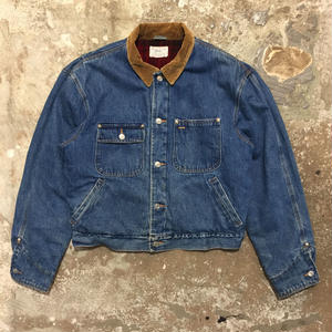 80's Polo Ralph Lauren Blanket Lined Denim Jacket (SIZE : L)