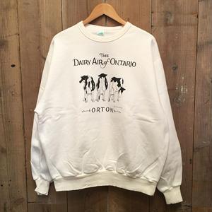 90's WAVES Cow Printed Sweatshirt