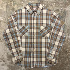 70's BIG MAC Heavy Flannel Shirt WHITE×BROWN