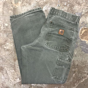 90's~ Carhartt Double Knee Painter Pants GREEN  W : 31