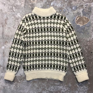 70's RUNOX Mock Neck Wool Sweater