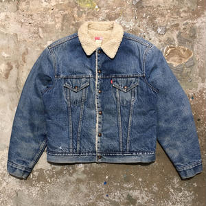 70's Levi's 70605 Denim Boa Jacket