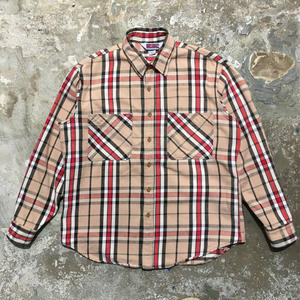 80's BIG MAC Heavy Flannel Shirt L.BEIGE×BLACK