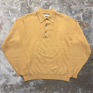 80's REVERE Wool Knit Polo Shirt