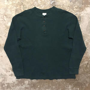 90's L.L.Bean Henry Neck Waffle T-Shirt