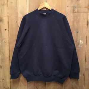 90's FRUIT OF THE LOOM Mid Neck Sweatshirt  NAVY