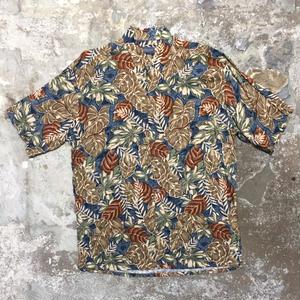 VAN HEUSEN Rayon Aloha Shirt BLUE×BROWN