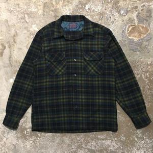 60's PENDLETON Wool Board Shirt NAVY×GREEN×BLUE