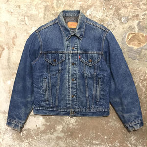 80's Levi's 70506 Blanket Lined Denim Jacket