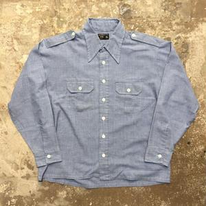 70's BIG MAC Chambray Shirt XL