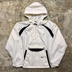 90's NIKE Nylon Anorak WHITE×BLACK