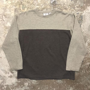 FARAH Rib Stitch Two Tone L/S Tee