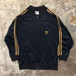 80's adidas Track Top BLACK × GOLD