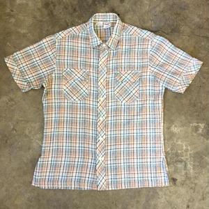 80's KENNINGTON  S/S Plaid Shirt