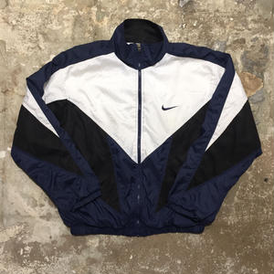 90's NIKE Nylon Mesh Jacket BLACK×NAVY×WHITE