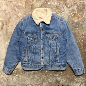 70's Levi's 70608 Denim Boa Jacket