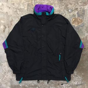90's Columbia Nylon Jacket BLACK×PURPLE×GREEN