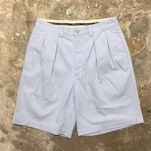 Polo Ralph Lauren Cotton Two Tuck Shorts L.BLUE W: 32