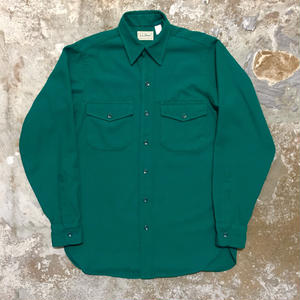 90's L.L.Bean L/S Work Shirt GREEN
