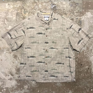 Columbia Fish Patterned B.D Shirt BEIGE
