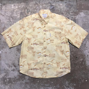 Columbia Fish Patterned B.D Shirt YELLOW