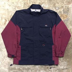 90's adidas Nylon Jacket NAVY×BURGUNDY