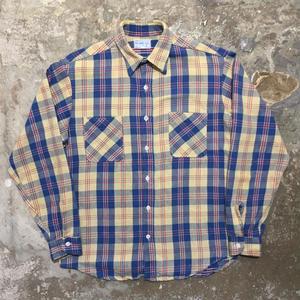 70's BIG MAC Heavy Flannel Shirt BLUE×BEIGE
