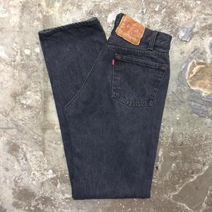90's Levi's 501 Denim Pants BLACK W30