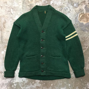60's Unknown Lettered Cardigan