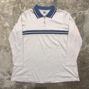 90's TAKE NINE L/S  Zip Polo Shirt