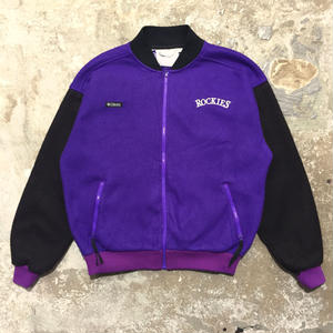 90's Columbia Fleece Jacket PURPLE×BLACK
