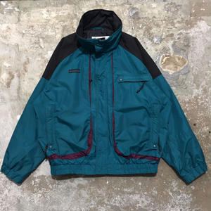 90's Columbia Nylon Jacket GREEN× BLACK×PURPLE
