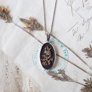 【一点物】野菊のネックレス