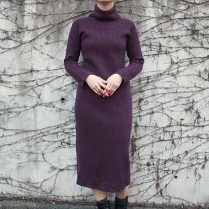 Rib knit turtle dress
