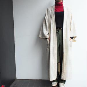 Plaid gown coat