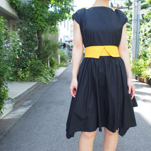 Madein France Black Yellow dress